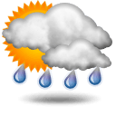 Patchy rain possible
